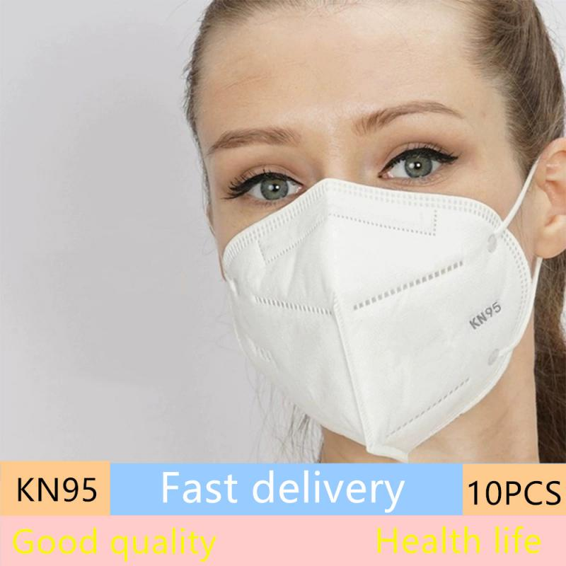 KN95 Masks 10 PCS /set Disposable Anti-fog Dust-proof Breathable Pollution And PM2.5 Non-woven Fabric Mask For Men And Women