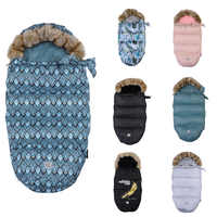 Enveloppe chaude épaisse pour nouveau-nés bébé poussette sac de couchage pied muff infantile hiver coupe-vent couvre-pied bébé poussette chancelière