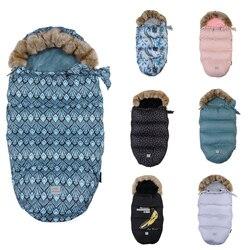 Sobre grueso y cálido para recién nacidos, cochecito de bebé, saco de dormir, saco de pie, bebé, invierno, a prueba de viento, cubierta de pie, cochecito de bebé