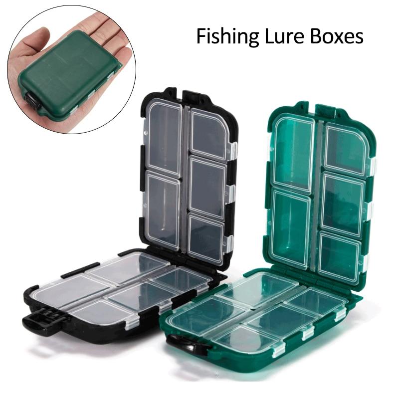 10 Compartments Fishing Lure Boxes Bait Storage Case Fishing Tackle Storage Trays Hooks Organizer Waterproof Fishing Accessory Fishing Tackle Boxes  - AliExpress