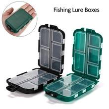 Cajas señuelo de pesca con 10 compartimentos, estuche de almacenamiento, aparejos de pesca, bandejas de almacenamiento, ganchos, organizador, resistente al agua, accesorio de pesca