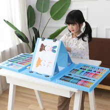 208 Pcs Colorful Crayons/Oil Pastels/Markers/Colored Pencils/Watercolor Pigment Painting Set Drawing Graffiti Pens