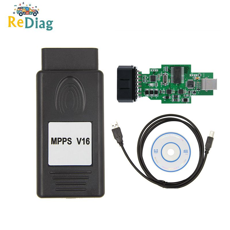 Berufs ECU Chip Tuning Tool MPPS V16 für EDC15 EDC16 EDC17 OBD2 ECU Diagnose Werkzeug Lesen/schreiben flash Multi -sprache