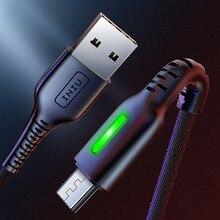 INIU 3 м светодиодный микро Тип usb C телефонный кабель Зарядное устройство микро usb для быстрой зарядки для samsung Xiaomi huawei Andriod Тип-C USB-C кабеля для передачи данных
