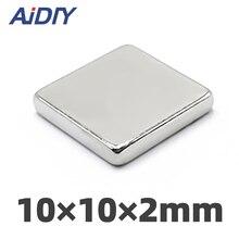 AIDIY 10/30/50 pcs 10x10x2mm neodymium magnet super powerful magnets rare earth 10 * 10*2free shipping
