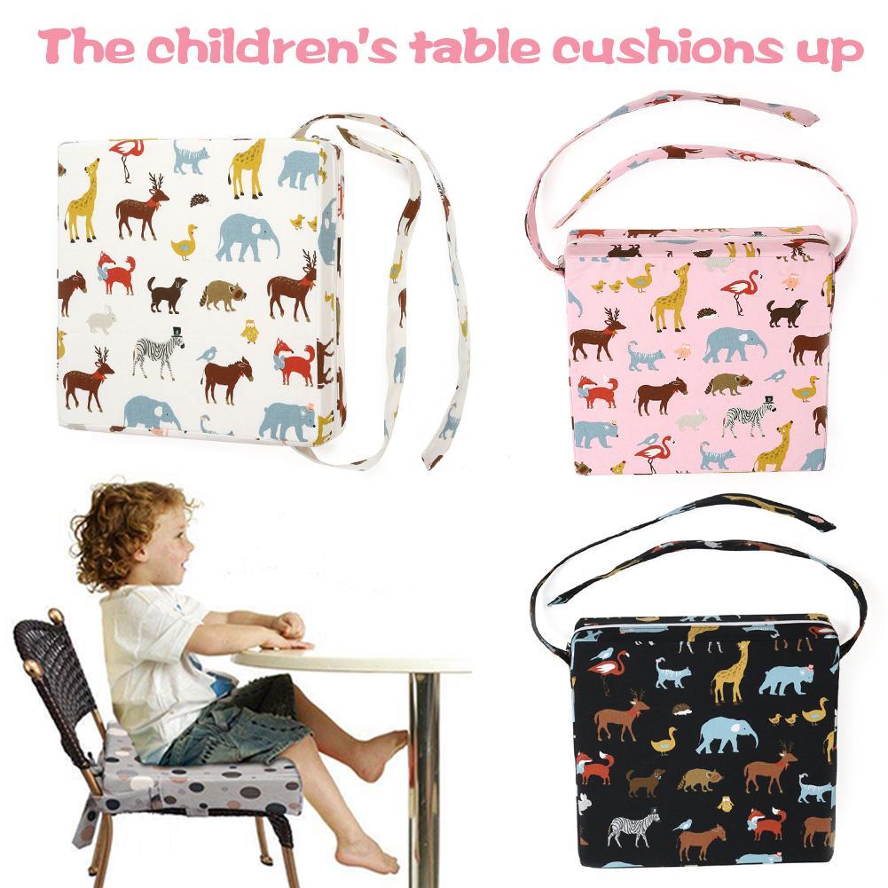 Newest Children's Print Heightening Chair Cushion Baby Comfort Cotton Linen Anti-skid Heightening Design Dining Chair Cushion