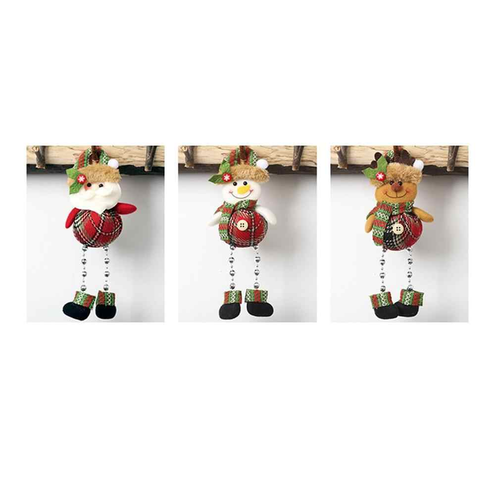 Christmas New Decoration Plaid Decoration Oblique Doll Christmas Tree Pendant Scene Dress Up Decoration