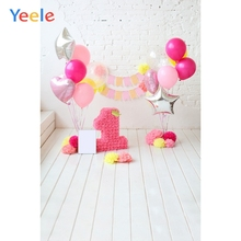 Yeele 1st Birthday Photozone Flowers Ins Interior Photography Backdrops Personalized Photographic Backgrounds For Photo Studio