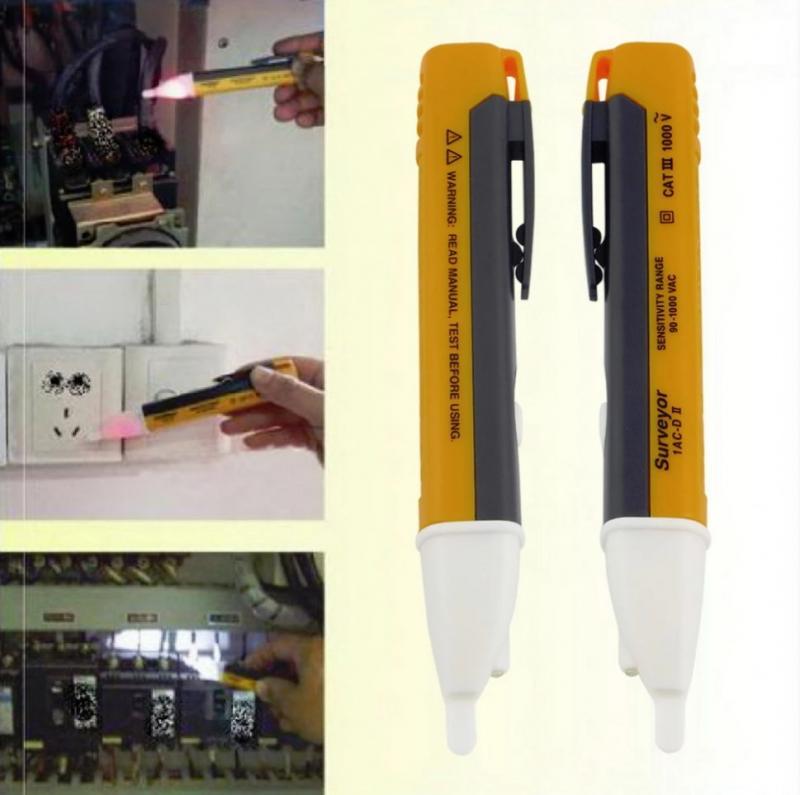 Electric Indicator 90-1000V Socket Wall AC Power Outlet LED Light Voltage Alert Pen Electric Detector Sensor Test Household Tool