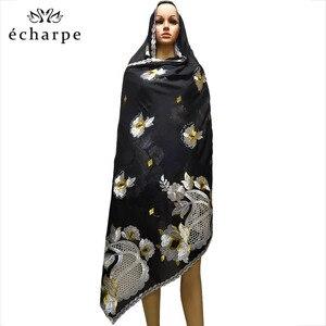 Image 1 - New African Scarf Muslim Hijab Jersey Scarf Soft Headscarf foulard femme musulman Islam Clothing Arab Wrap Head Scarves