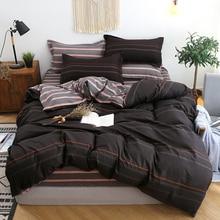 Classic Bedding Set Grey Blue Flower Bed 4pcs/set Duvet Cover Pastoral Sheet AB Side Ropa de Cama