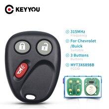 KEYYOU Remote Car Key 315Mhz MYT3X6898B For Chevrolet GMC Envoy Trailblazer  2002 2003 2004 2005 2006 2007 2008 2009