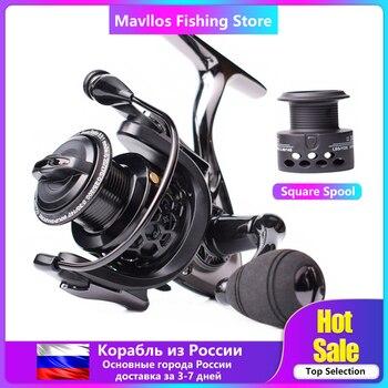 Mavllos Saltwater Carp Spinning Fishing Reel 15BB Ratio 5.5:1 1000-7000 Model 2 Spools Metal Body Sea Boat Jigging Fishing Reel
