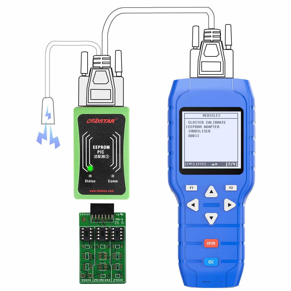 OBDSTAR X100 X100 برو السيارات مفتاح مبرمج (C + D + E) مع EEPROM محول IMMO عداد المسافات تصحيح OBD أداة البرمجيات