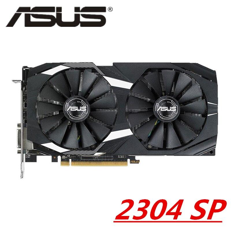 Оригинальная Видеокарта ASUS RX 580 4 Гб, графический процессор AMD Radeon RX580 4 Гб, видеокарты для настольного компьютера, игры 570 560 550 VGA DVI