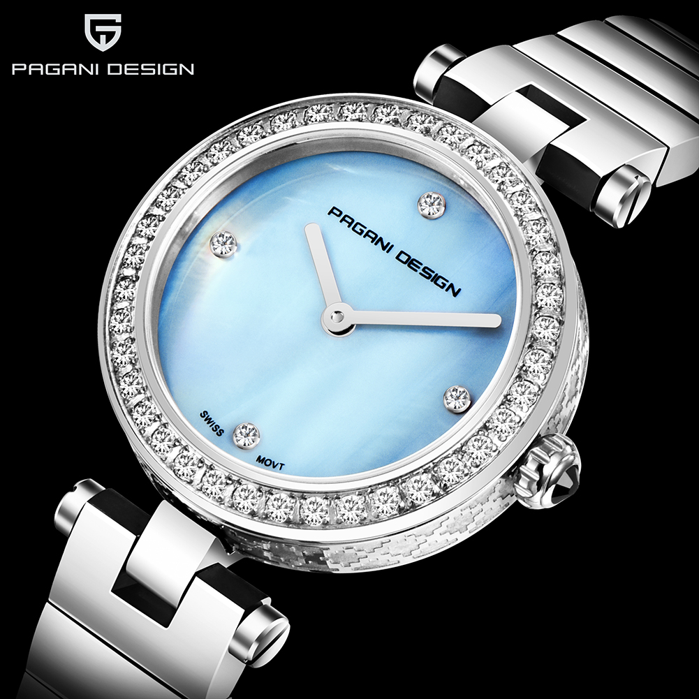 PAGANI DESIGN Crystal Diamond Women Watches Top Brand Luxury Business Sports Creative Lady Silver Watches Gold Clock Reloj <font><b>Mujer</b></font> image