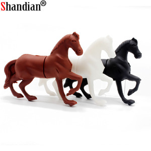 SHANDIAN hot selling mini cartoon usb horse 4gb 8gb 16gb 32gb 64gb usb flash drive pen drive U disk Thumb pendrive Flash Card