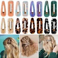 Nuovo 2 pz/set Vintage Leopard acetato geometrica clip di capelli per le donne ragazze fascia moda forcine Barrettes accessori per capelli