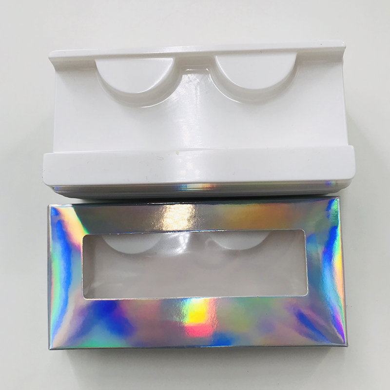 Holographic Lashes Box Empty Eyelashes Packing Dramatic Hot Selling Boxes