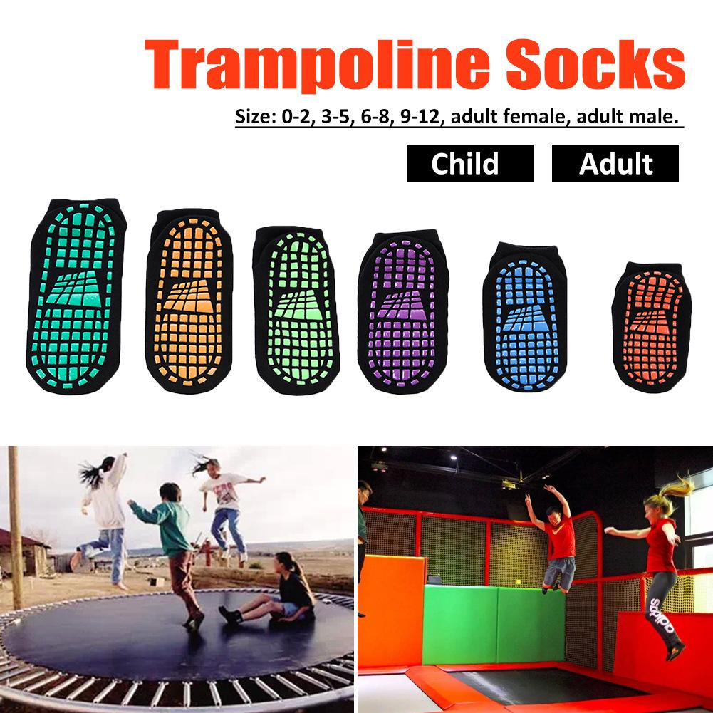 Anti-slip Sports Socks Trampoline Socks Cushioning Bandage Pilates Ballet Good Grip Non Slip Men And Women Cotton Socks P4