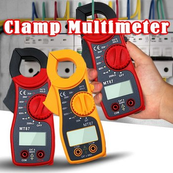 MT87 LCD Digital Multimeter AC/DC Voltage Tester Current Resistance High Quanlity Clamp Meters Clamp Meters Measurement image