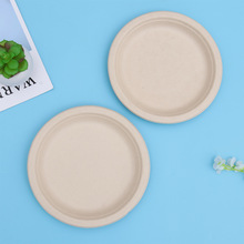 Tableware Paper-Pulp Party-Plates Disposable for Banquet Dinner Kitchen-Accessories 7inch