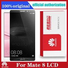 Oryginalny ekran dotykowy Huawei Mate 8 LCD z ramką wymiana wyświetlacza Digitizer dla Mate 8 Mate8 Lcds NXT L29