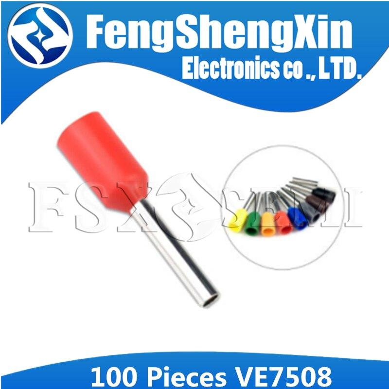100 шт. E0508 VE0508 трубчатый провод, соединитель холодного давления, электрические клеммы, кабельные щипцы, провода наконечники для 0,5 мм2, 22 AWG провода|Интегральные схемы|   | АлиЭкспресс