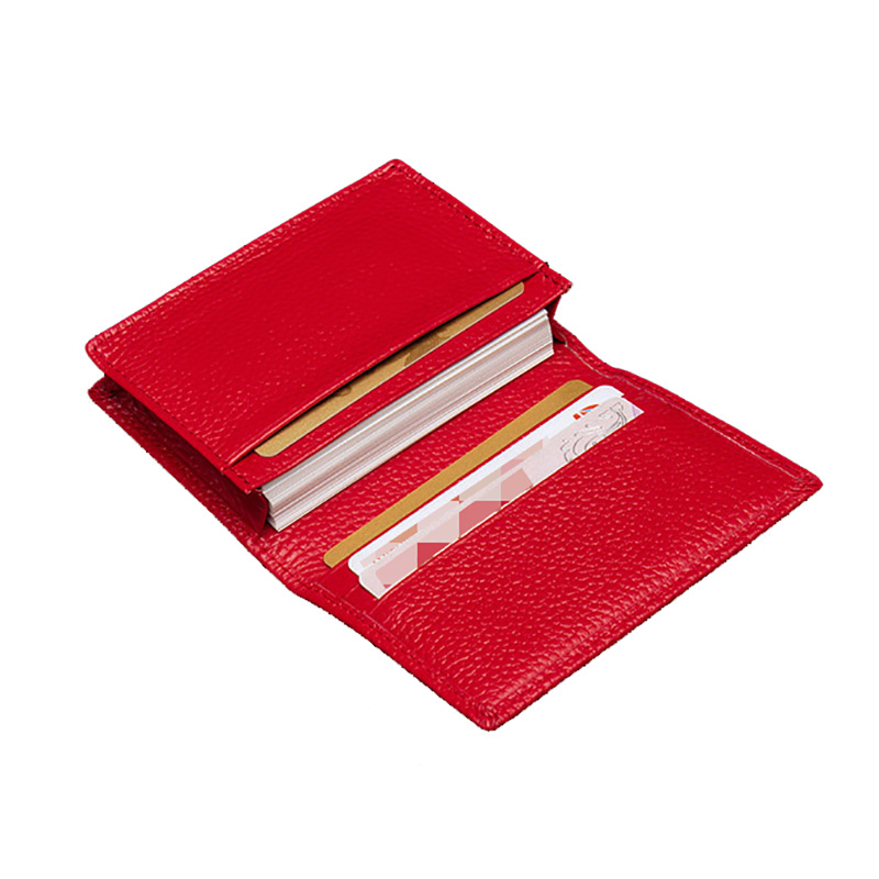 100% Genuine Leather Business Name Card Case Large Capacity Cross Crocodile Saffiano Bank Card ID Holder Custom Name Logo