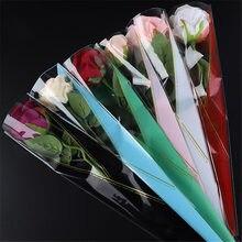 Прозрачные пластиковые подарочные пакеты золотого треугольника, подарочные пакеты в форме конуса для цветочной упаковки для украшения сва...