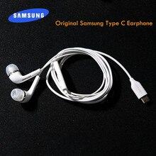 Оригинальные наушники Samsung Galaxy S20 Ultra Note 10 Plus A90 A80 A60 A8S Type C, проводные наушники-вкладыши с микрофоном и регулировкой громкости, гарнитура с мик...