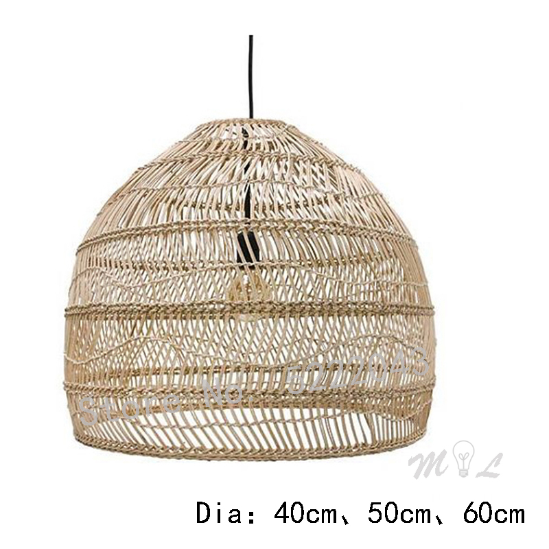 Rattan Pendant Lights Creative Art Deco Hanglamp Chinese Style Hanging Lamps Home Deco Maison Living Room Bedroom Suspension E27