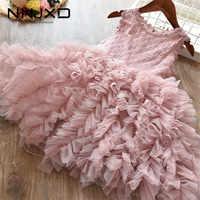 Ropa rosa para niña, vestidos bonitos para niño, ropa del Diario para niña de 3, 4, 5, 6 y 7 años, vestido de princesa pequeña para fiesta de boda