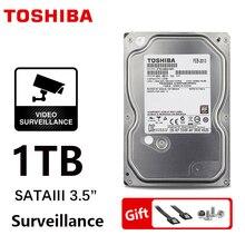 "TOSHIBA การเฝ้าระวัง DVR NVR กล้องวงจรปิด 1TB ฮาร์ดดิสก์ไดรฟ์ 1000GB HDD ภายใน SATA 3 5700 รอบต่อนาที 32M 3.5 ""Harddisk ฮาร์ดไดรฟ์"