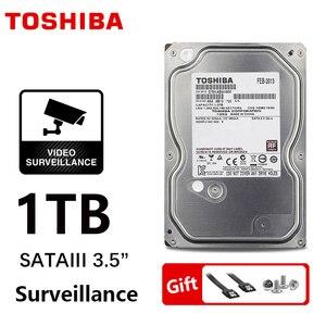 "Image 1 - TOSHIBA การเฝ้าระวัง DVR NVR กล้องวงจรปิด 1TB ฮาร์ดดิสก์ไดรฟ์ 1000GB HDD ภายใน SATA 3 5700 รอบต่อนาที 32M 3.5 ""Harddisk ฮาร์ดไดรฟ์"