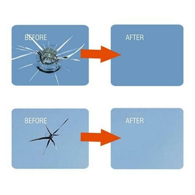 Vetro per auto Nano Riparazione Fluido Finestra di Vetro Rotto Nano Strumento di Riparazione Set Black Magic Parabrezza Crepa Chip di Tool Kit di Riparazione