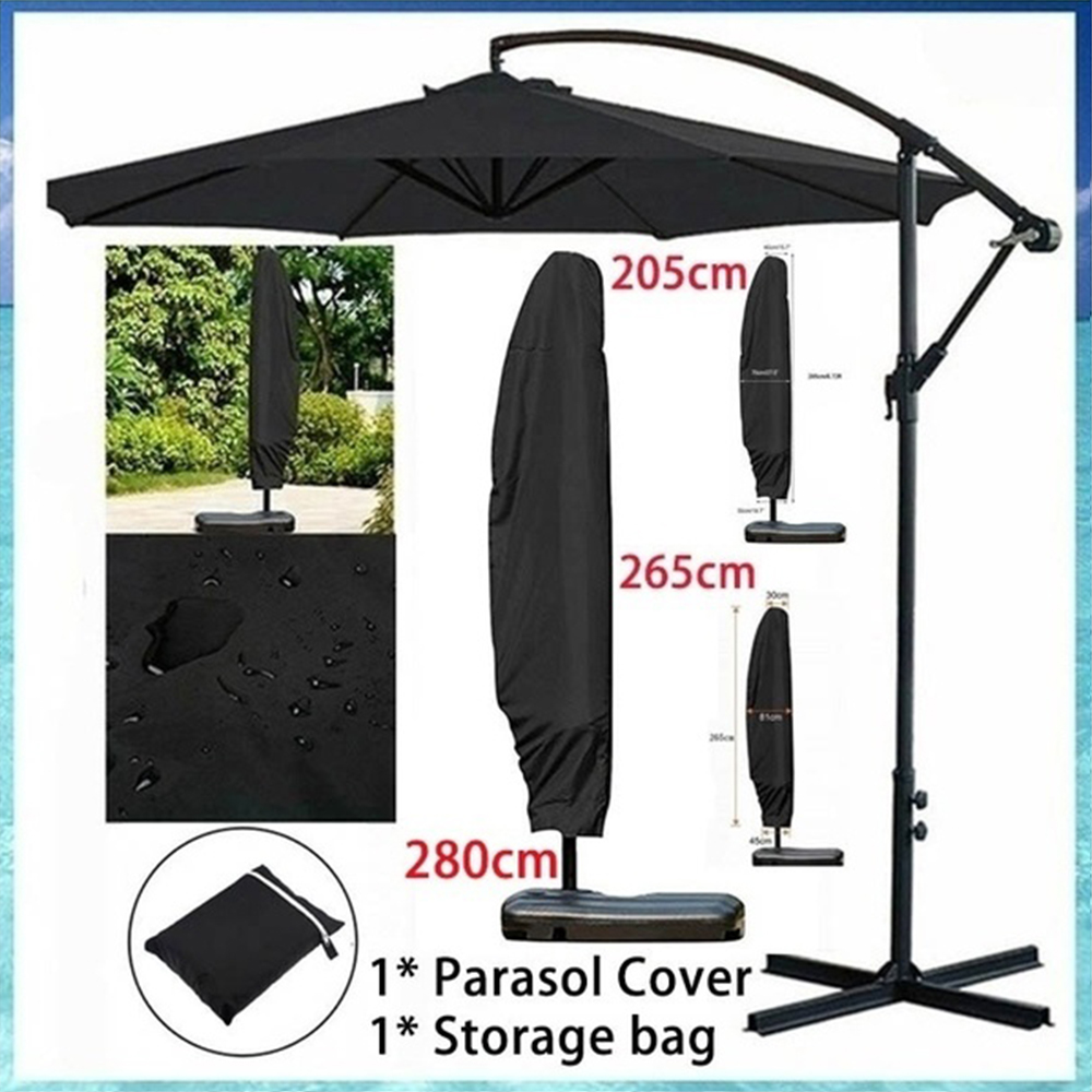280CM Parasol Cover Waterproof Oxford Cloth Outdoor Banana Umbrella Cover Shade Garden Weatherproof Patio Cantilever Accessories