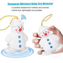 Superhot New Lovely Snowman Wireless Baby Cry Detector Monitor Reminder Watcher Alarm giantree wireless novelty infant crying alarm monitor watcher baby cry snowman detector watcher audio monitor alarm baby monitor
