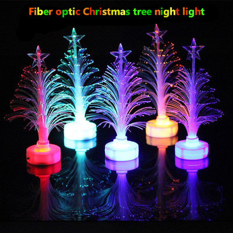 Explosion Creative Christmas Tree Indoor Night Light Romantic LED Colorful Fiber Optic Lights Christmas Gift Decoration Lights