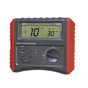 Probador Digital RCD UNI-T UT585, probador de interruptor de protección contra fugas, regulador de voltaje CA automático/detección Manual de rampa/retroiluminación LCD