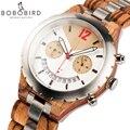BOBO BIRD мужские часы Роскошный дизайн несколько часовых поясов часы деревянные металлические хронограф часы с датой Дисплей элегантные часы