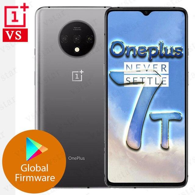 الهاتف الذكي العالمي Oneplus 7T الأصلي 6.55 بوصة سناب دراجون 855 Plus ثماني النواة أندرويد 10.0 في الشاشة إفتح 3800mAh