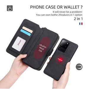 Image 3 - Megshi multifuncional caso de telefone couro para huawei p20 p30 p40 mate20 mate30 caso zíper bolsa coque