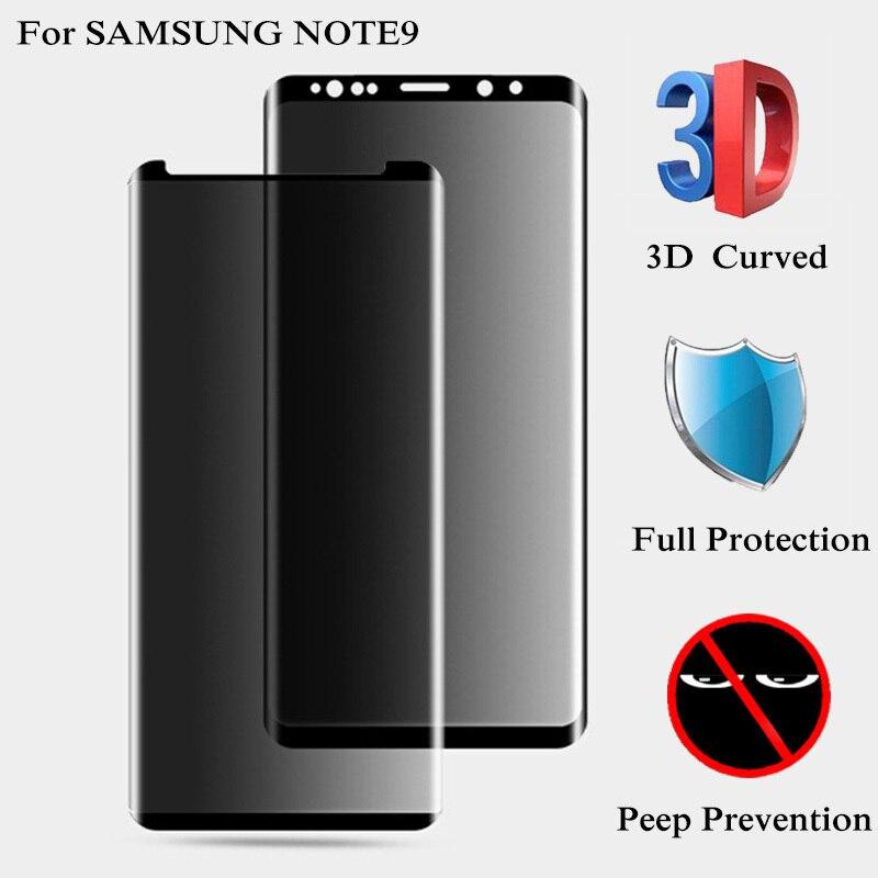 3D полное покрытие, антибликовое стекло для конфиденциальности для SAMSUNG Galaxy Note 8 9 S8 S9 Plus, закаленное стекло для защиты экрана для S7 Edge, пленка