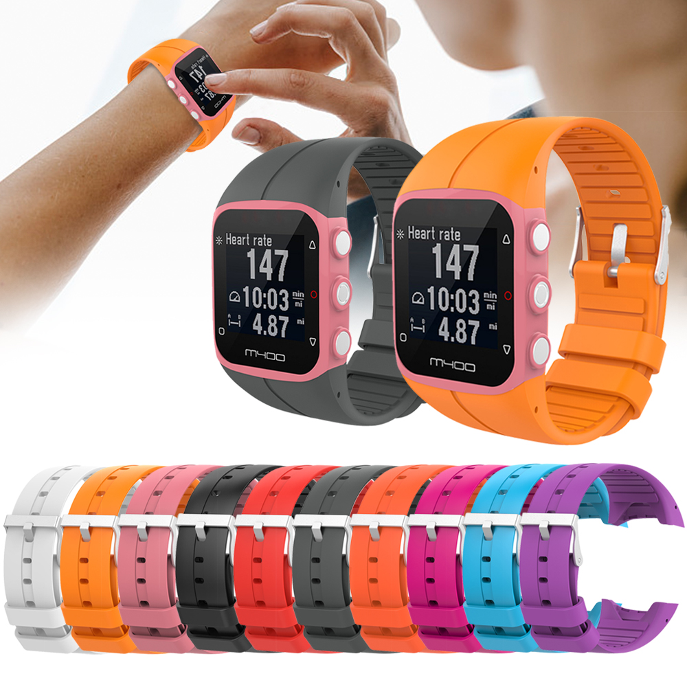Silicone Wristband Strap For Polar M400 M430 GPS Sports Smart Watch Replacement Watchband Bracelet Watch Soft Strap Band