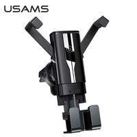 USAMS Universal Car Mobile Phone Holder Air Vent Mount Stand Gravity Cell Phone Holder For iPhone Samsung Xiaomi Huawei Phone  In Car Bracket
