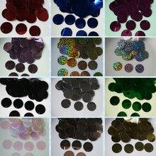 400 Uds 20mm lentejuelas Multicolor plástico lentejuelas redondas sueltas lentejuelas para coser accesorios para manualidades de boda accesorio DIY