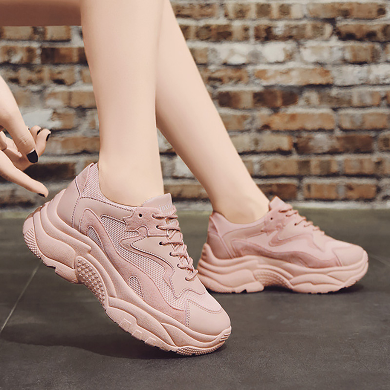 Women Shoes 2020 Fashion Sneakers Women Casual Shoes Woman Chunky Sneakers Platform Dad Shoes Female Trainers Tenis Feminino title=