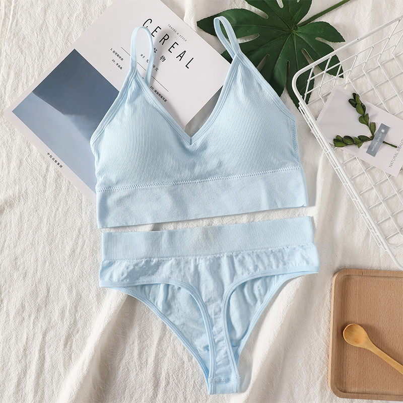 Bra Panties Set   Sexy G-String Push Up Bra   Seamless Underwear   Fitness Active Bra   Thongs Top Lingerie Set 5