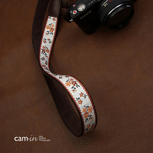 Image 3 - Cam7547 الرقمية SLR شريط كاميرا لينة الصينية نمط المطرزة نسيج القطن أشرطة أكتاف وعنق السيدات